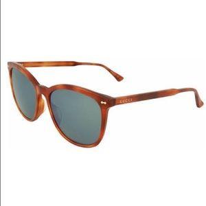 Gucci GG0196SK 003 Brown Mirrored Sunglasses